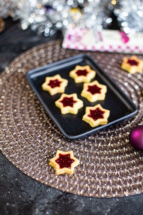 Mürbteig Plätzchen mit Marmelade als Füllung – Einfaches Rezept
