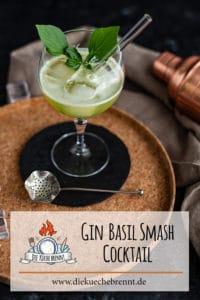 Gin Basil Smash Rezept - Cocktail mit Basilikum