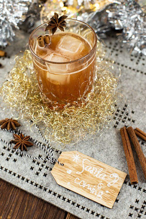 Weihnachtlicher Drink mit Chai