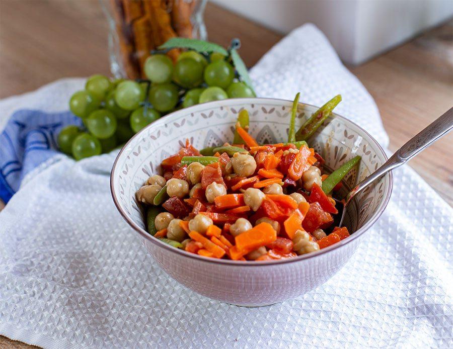 Bohnen Kichererbsen Salat
