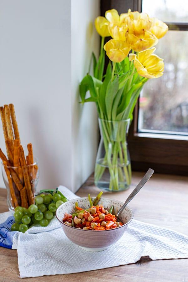 Italienischer Salat mit Kichererbsen
