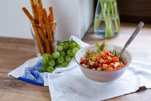 Minestrone in Salatform