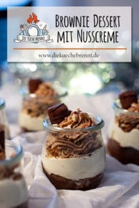 Brownie Dessert mit Haselnusscreme
