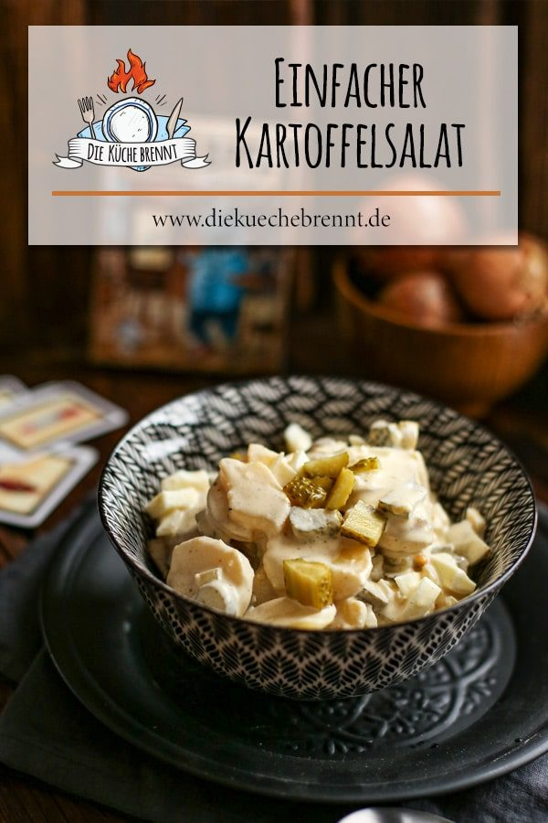 Einfacher Kartoffelsalat mit Mayonnaise - Boardgame Rezept
