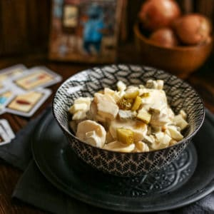 Einfacher Kartoffelsalat mit Mayonnaise