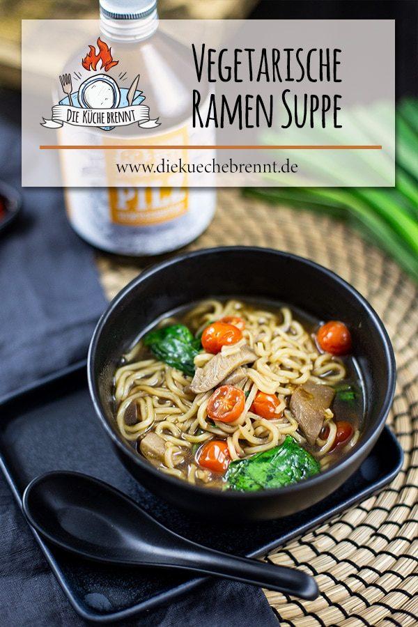 vegetarische Ramen Suppe