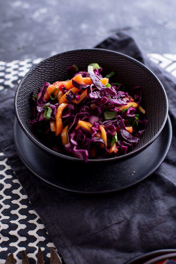 Mango Rotkohl Salat Rezept
