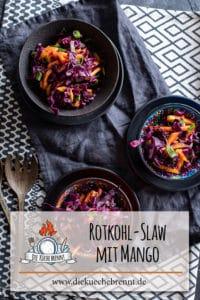 Rotkohl Slaw mit Mango