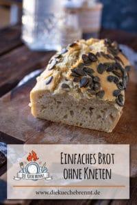 Einfaches Brot Rezept ohne Kneten