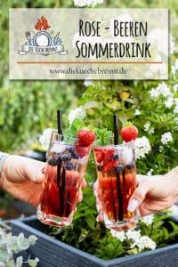 Sommerdrink 2020 Rose Cocktail Rezept