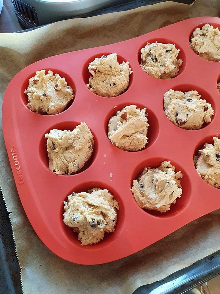 Muffin Form Teig