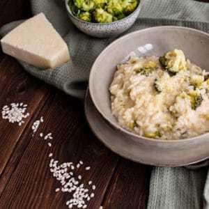 Parmesan Risotto Rezept mit Brokkoli