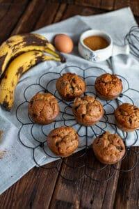 Bananen Muffins mit Schokolade