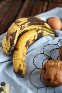 Backen mit reifen Bananen
