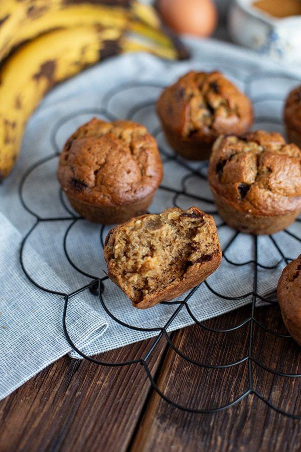 Saftige Muffins durch Bananen