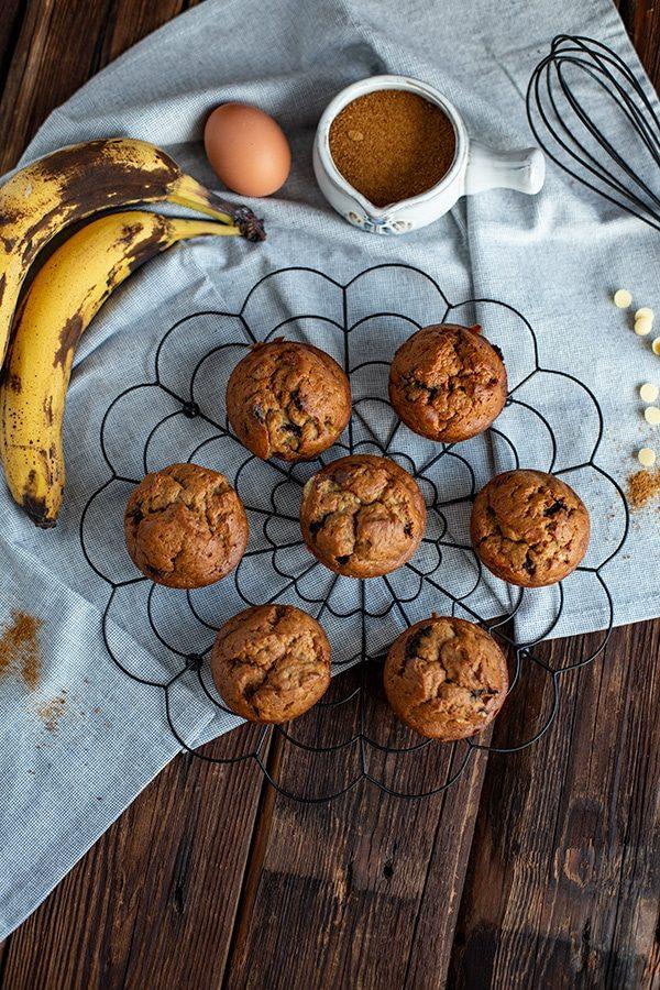 Selbstgemachte Bananen Muffins