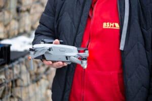 Photovoltaik Anlage Drohnenflug BSH