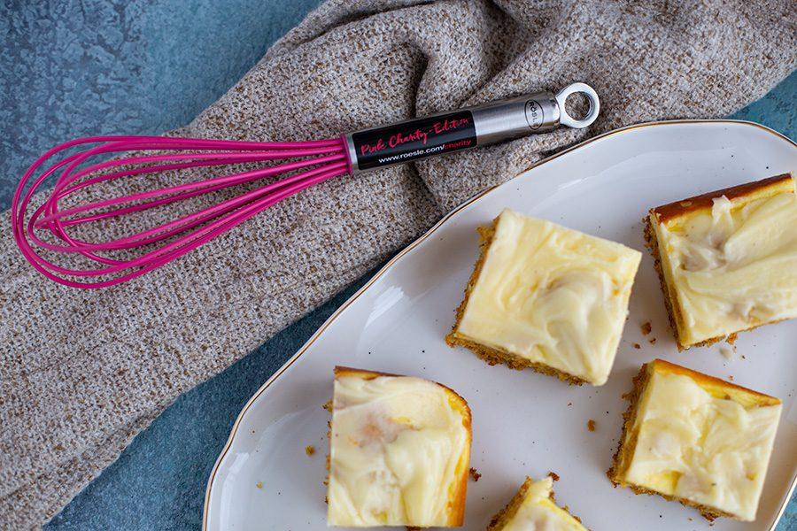 Karottenkuchen mit Käseschicht