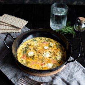 Ofen Omelette Rezept mit Lachs