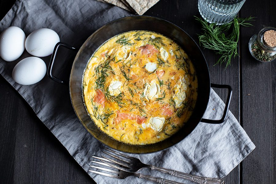 Rezept für Omelette aus dem Ofen