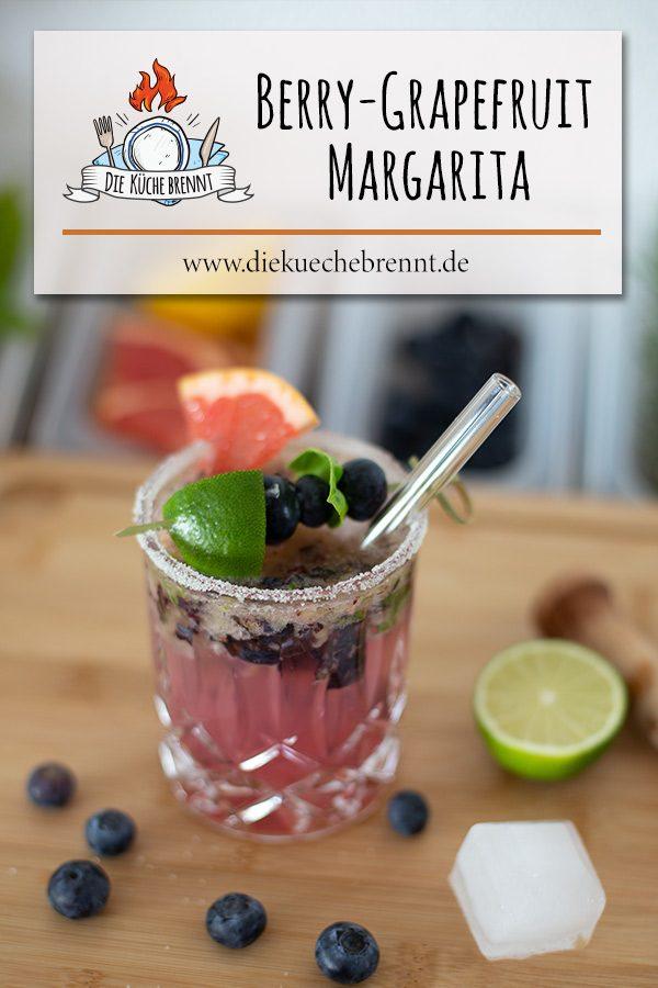 Blaubeer Grapefruit Margarita - Sommercocktail 2021