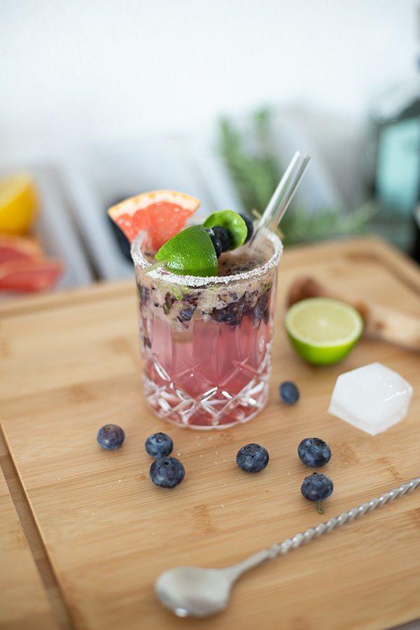 Blueberry Grapefruit Margarita Drink