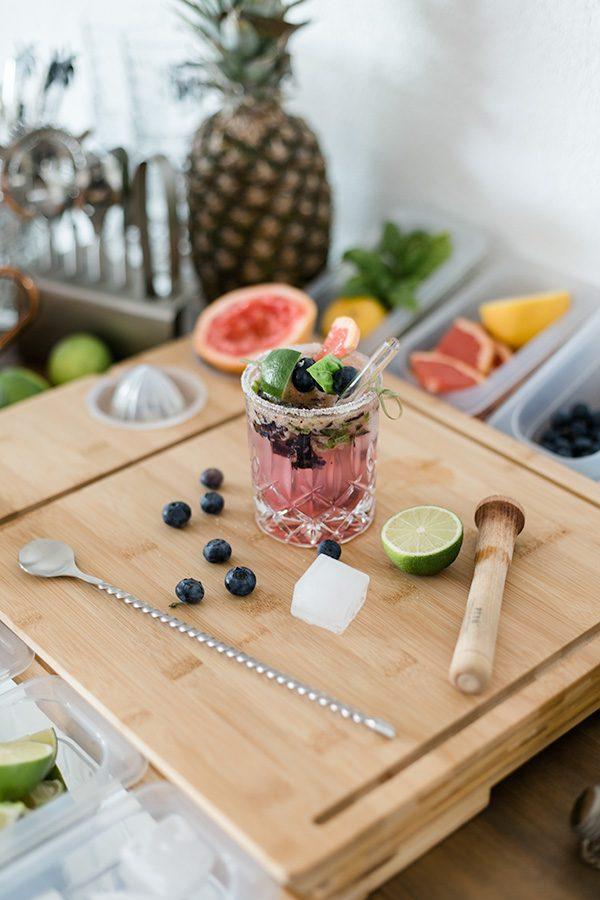 Blueberry Grapefruit Smash Margarita